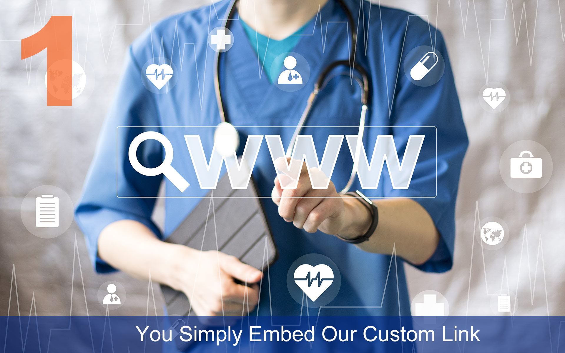 You Simply Embed Our Custom Link